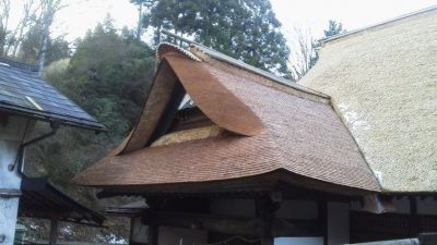 玄関千鳥破風屋根